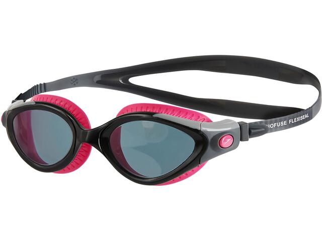 speedo Futura Biofuse Flexiseal Svømmebriller Damer, ecstatic pink/black/smoke